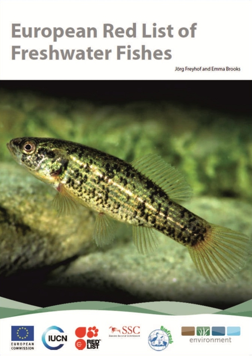 Cover of European Red List of Freshwater Fishes